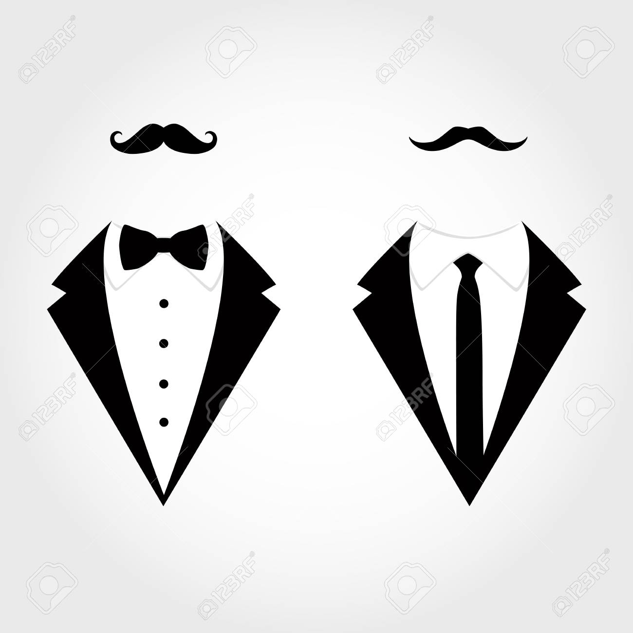 Suit icon isolated on white background. Gentleman icon. Vector..