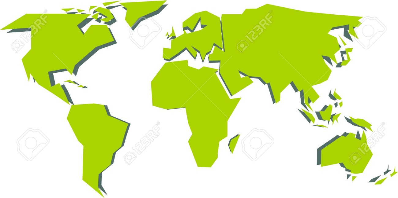 Simplified world map vector illustration royalty free cliparts simplified world map vector illustration stock vector 21965449 sciox Images