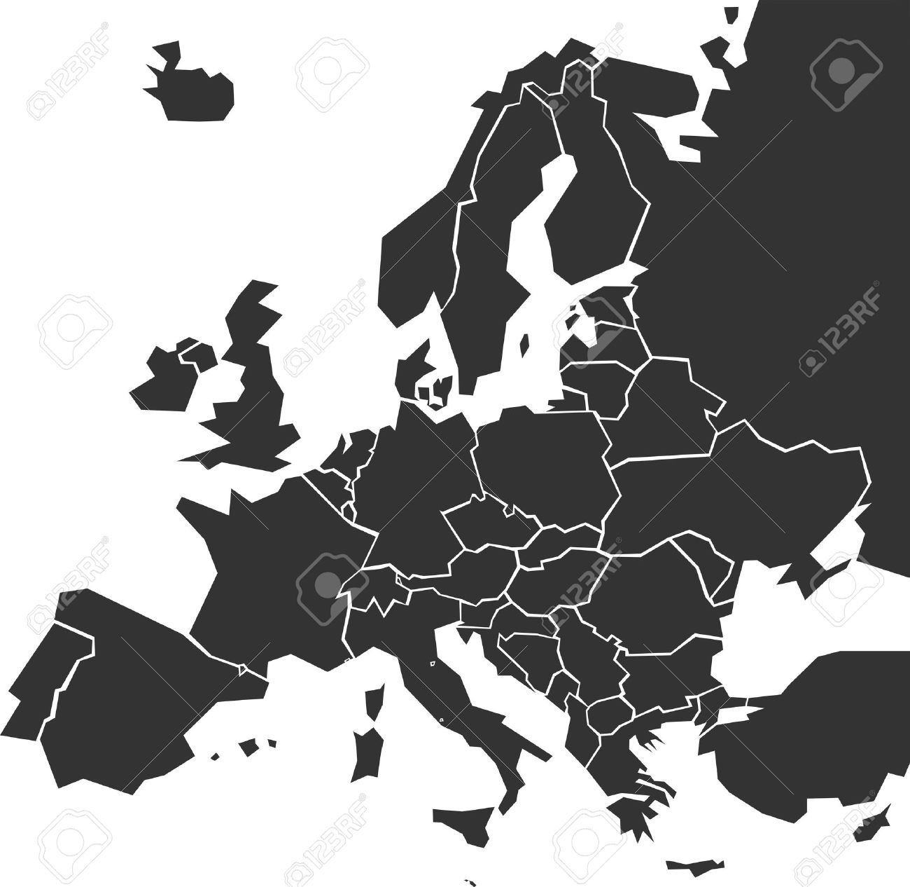 carte europe simplifiee