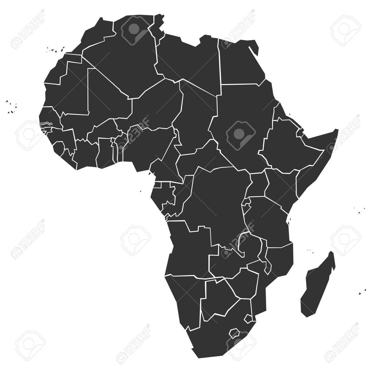 Carte Afrique Vectorielle.Simplifie La Carte Politique De L Afrique Illustration Vectorielle
