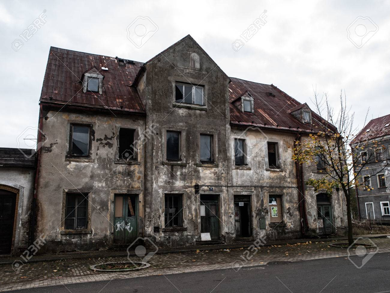 Sensational Abandoned House With Devasted Facade And Broken Windows Download Free Architecture Designs Itiscsunscenecom