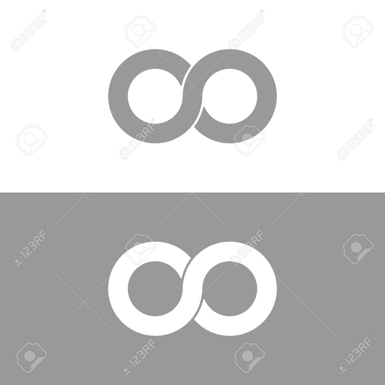 Infinity Symbol In Grey And White Endless Infinite Royalty Free