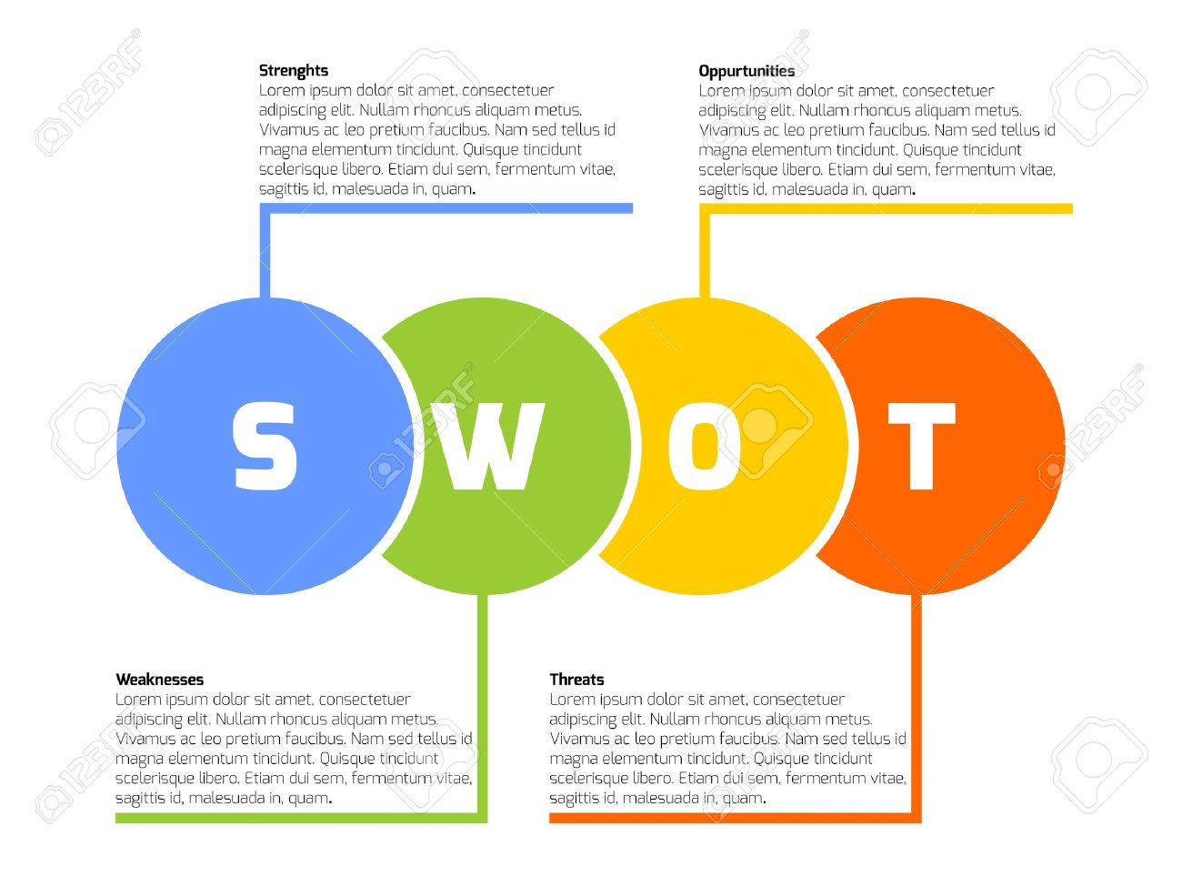 swot business infographic diagram  or swot matrix  royalty free    vector   swot business infographic diagram  or swot matrix