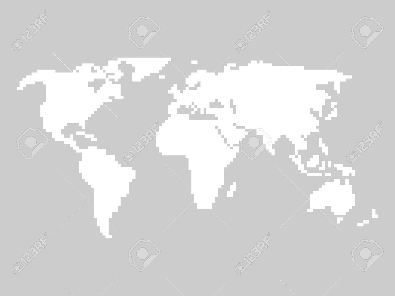 Pixelated world map white illustration on grey background royalty pixelated world map white illustration on grey background stock vector 53890727 gumiabroncs Image collections
