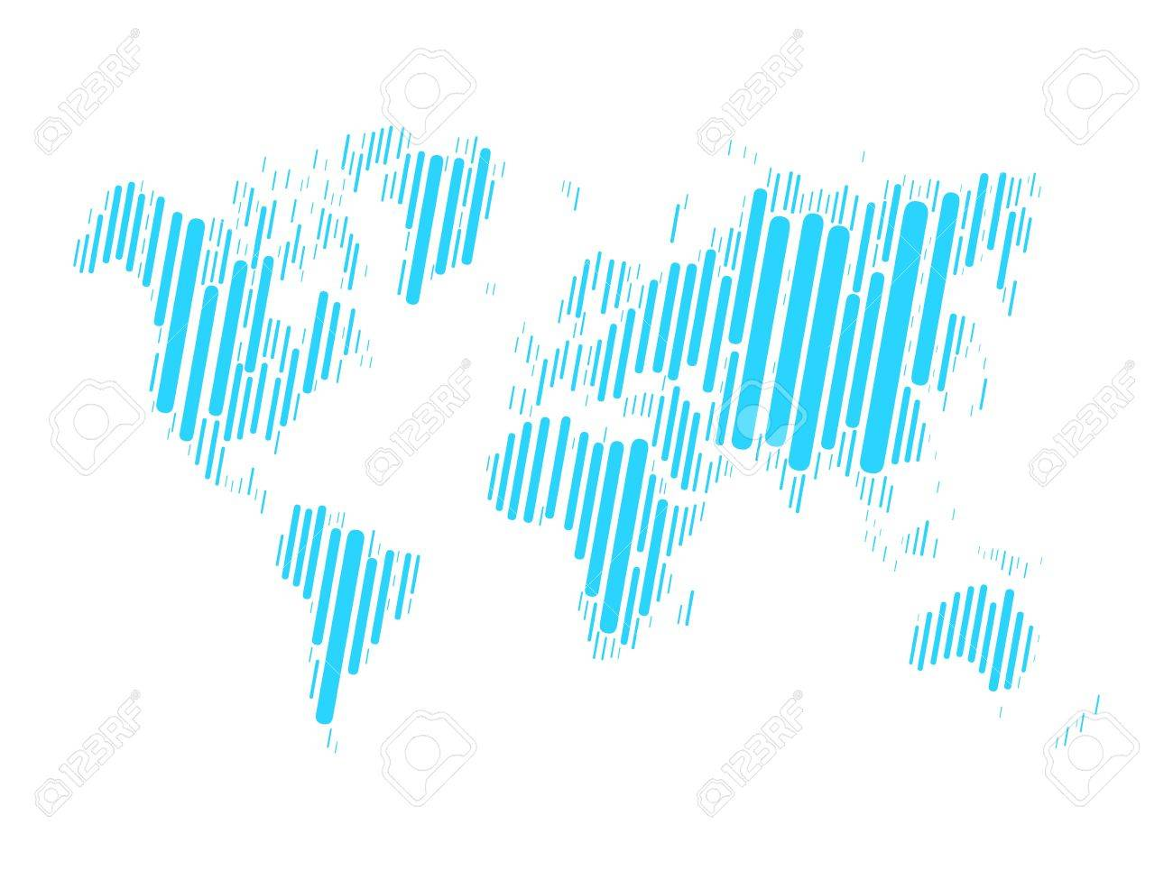 World map mosaic of blue blocks with rounded corners on white vector world map mosaic of blue blocks with rounded corners on white background vector map of the world modern background world design gumiabroncs Images