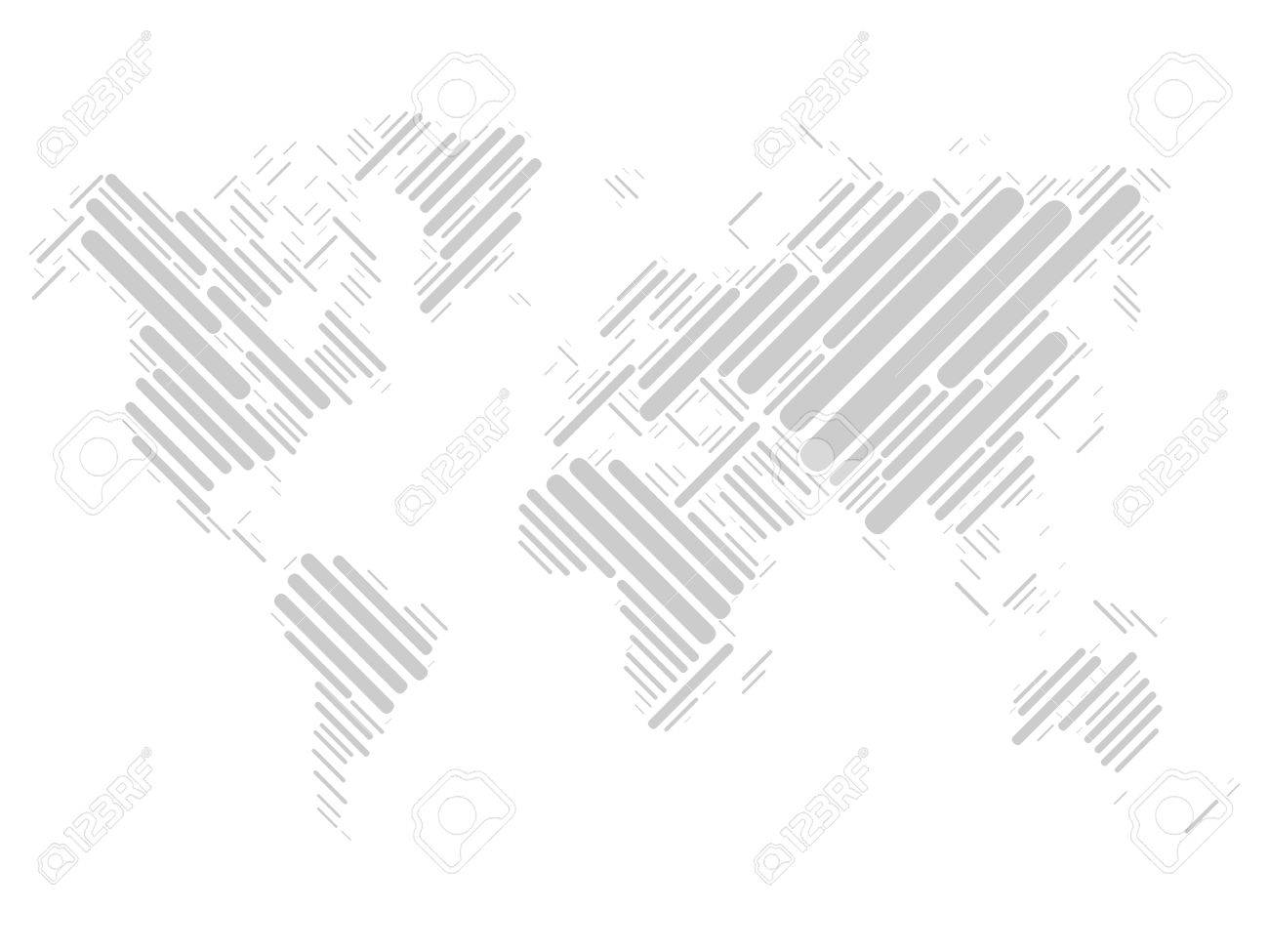 vector world map mosaic of grey blocks with rounded corners on white background vector map of the world modern light background world design