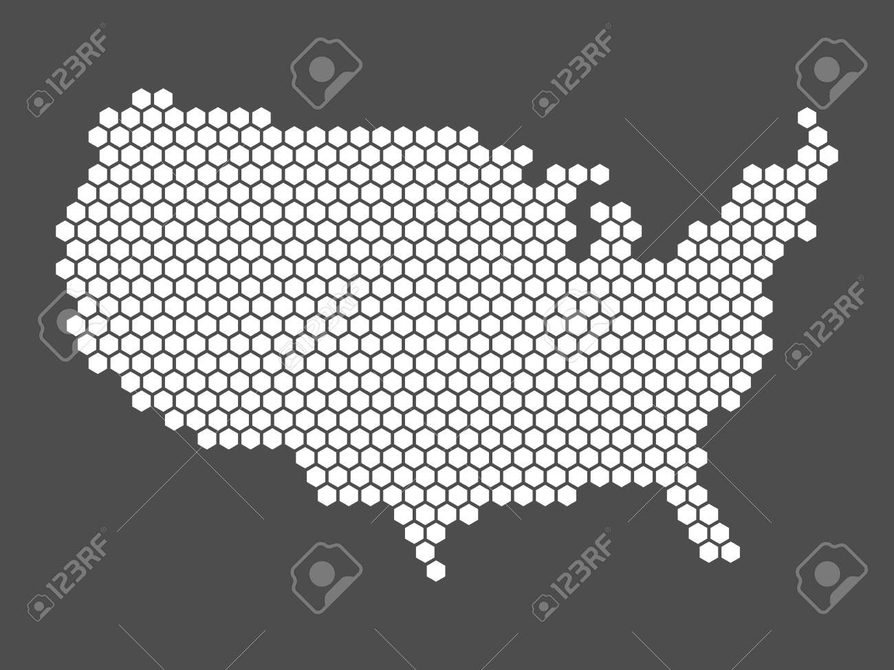 Flat Us Map.Abstract Map Of United States Of America Aka Usa Simple Flat