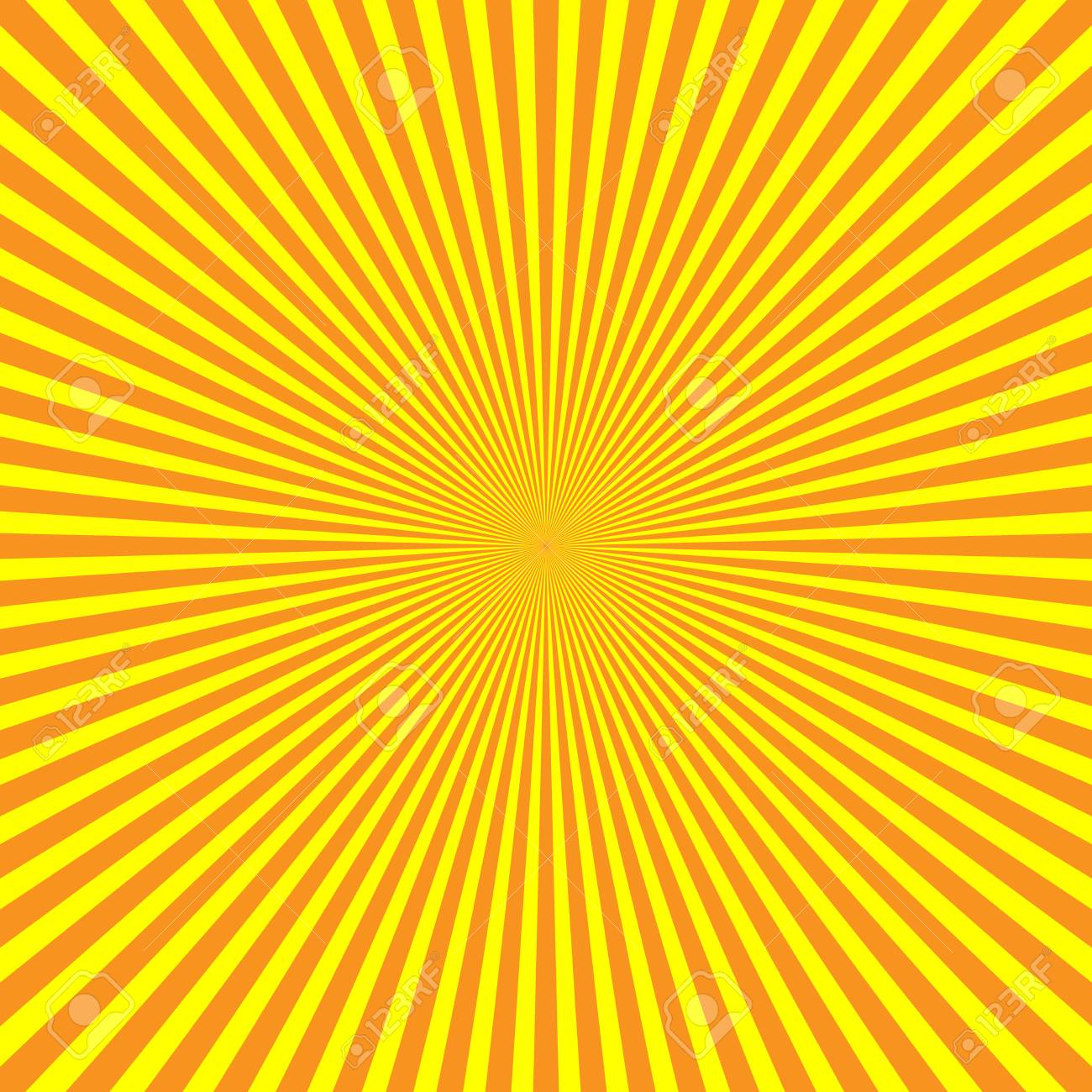 Yellow-orange Rays Of Light In Radial Arrangement. Sunshine Beams ... for Background Pattern Light Orange  193tgx