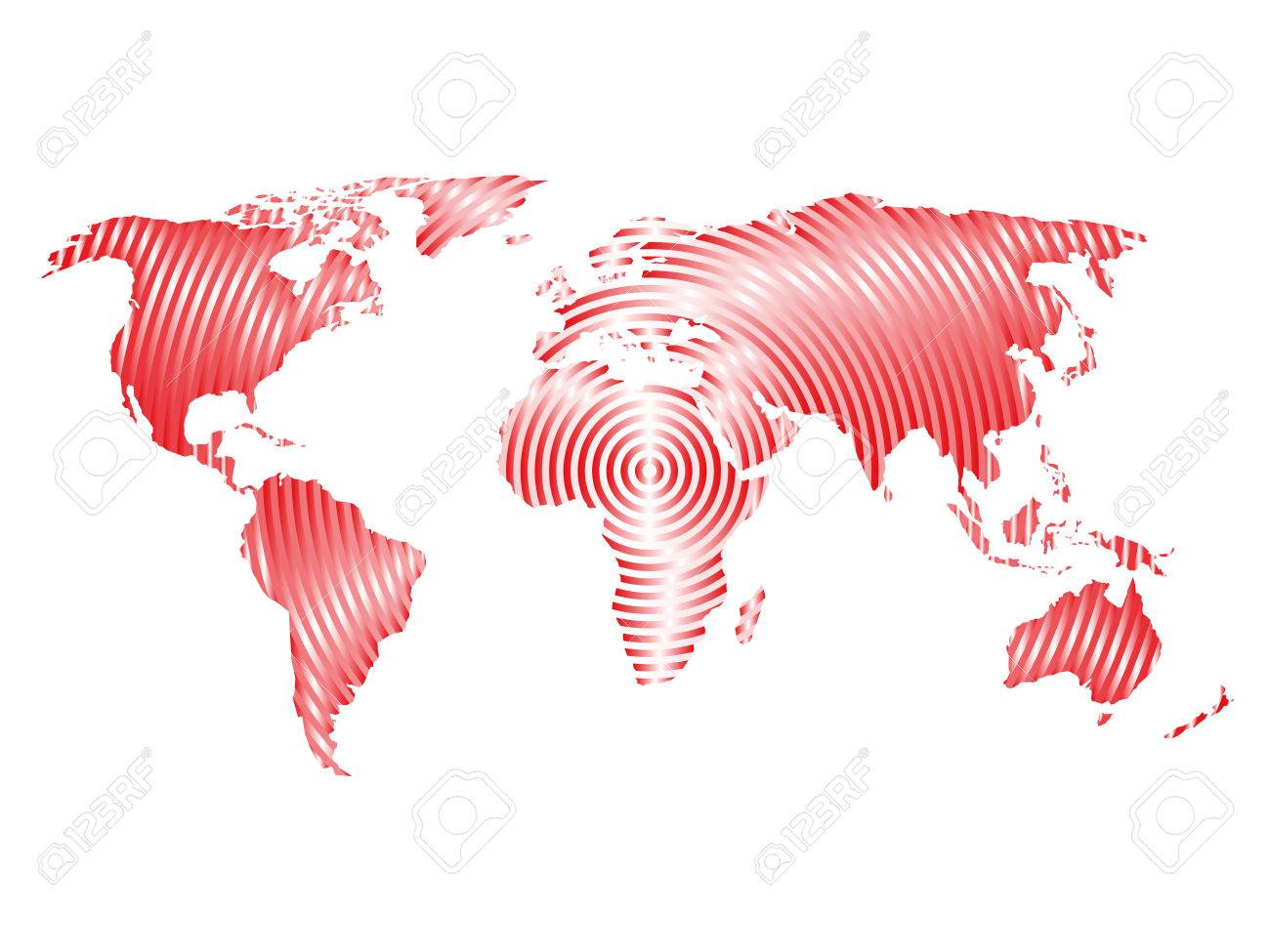 World map of grey concentric rings on white background worldwide vector world map of grey concentric rings on white background worldwide communication radio waves concept modern design vector wallpaper gumiabroncs Gallery
