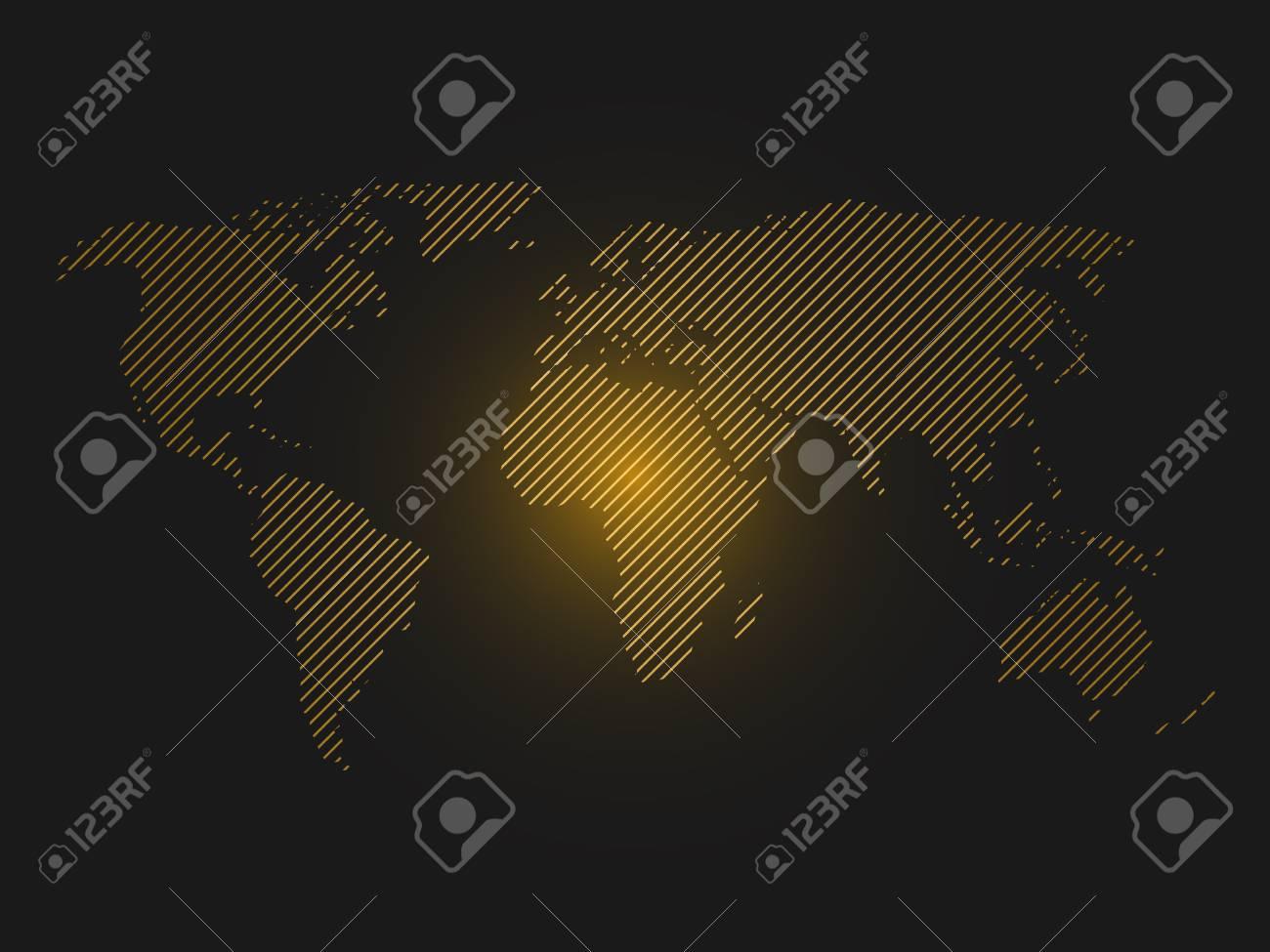 Striped world map orange led light futuristic design on dark striped world map orange led light futuristic design on dark background vector illustration gumiabroncs Images