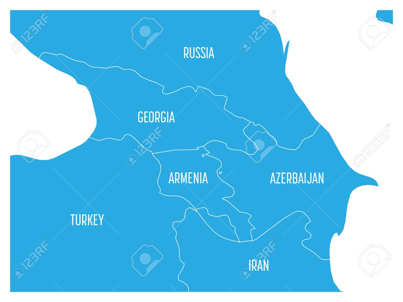 Map of caucasian region with states of georgia armenia azerbaijan map of caucasian region with states of georgia armenia azerbaijan russia turkey and gumiabroncs Images