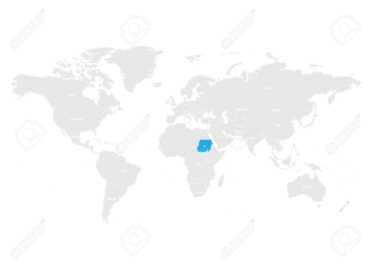 Sudan Map Location. Royalty Free Cliparts, Vectors, And Stock ...
