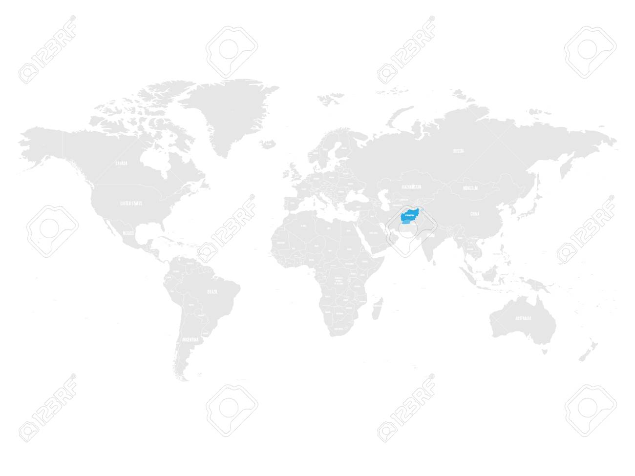 Afghanistan Map Location. Royalty Free Cliparts, Vectors, And Stock ...