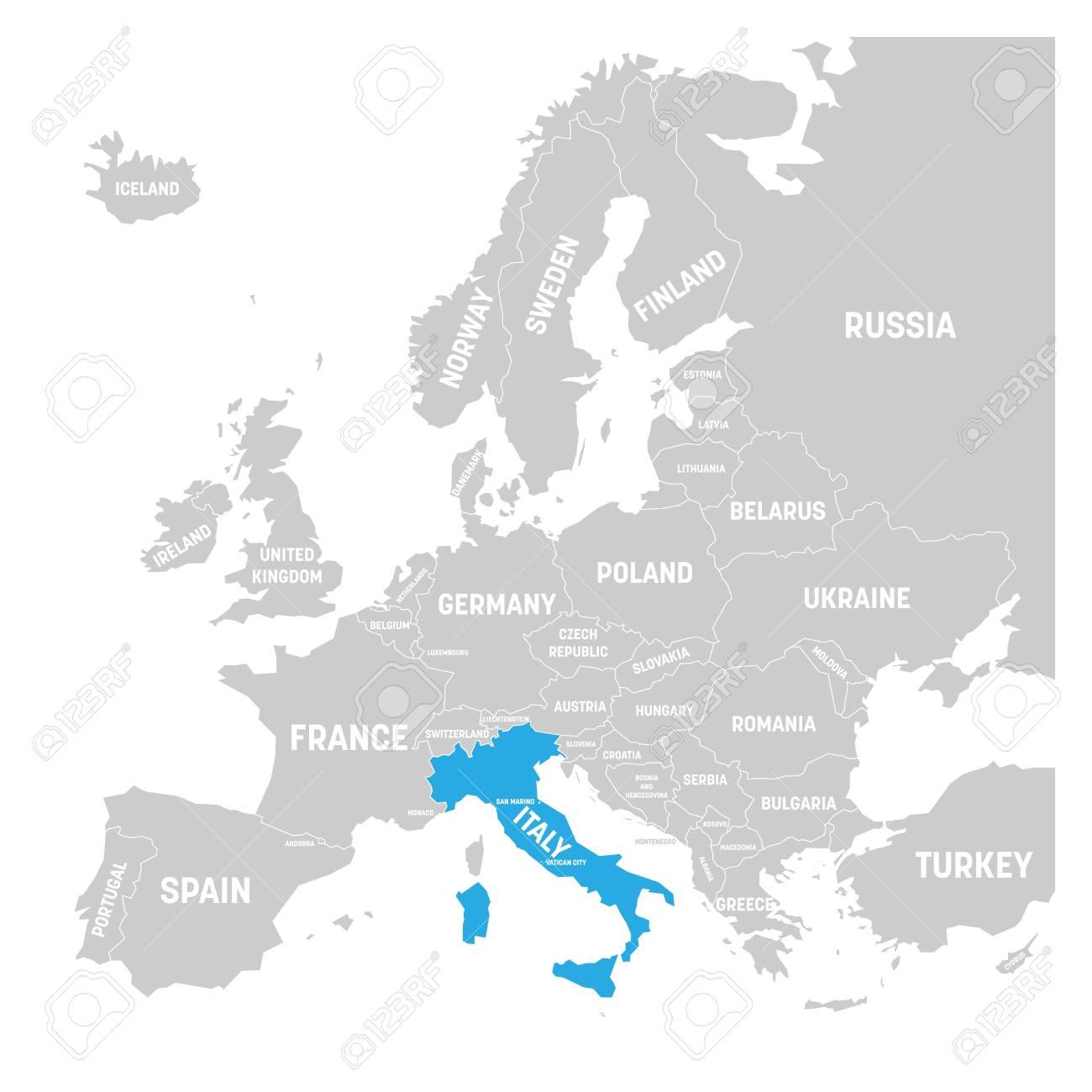 italie carte europe