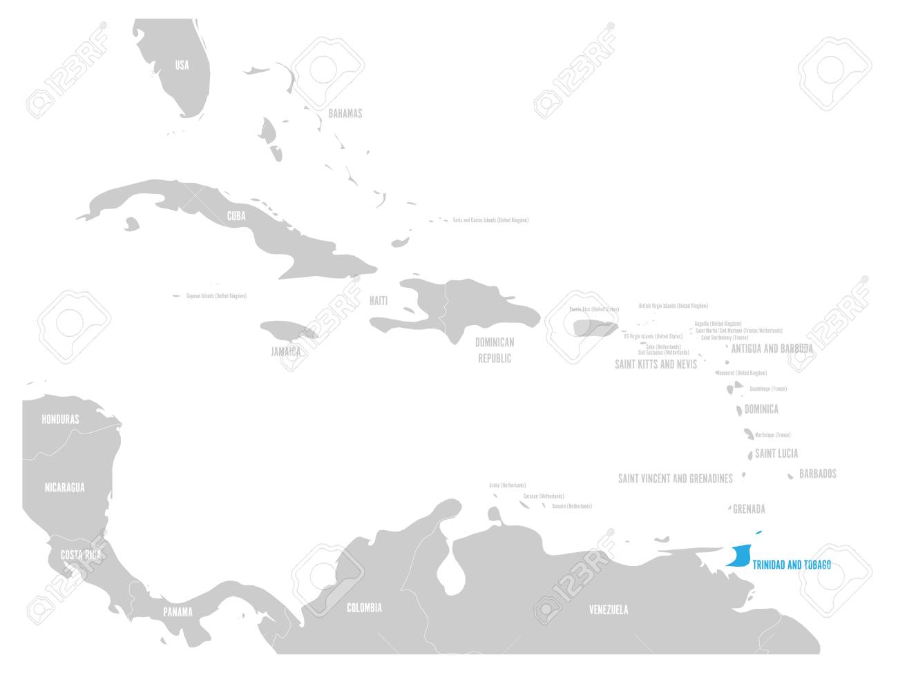 Bahamas blue marked in the map of Caribbean. Vector illustration. on florida map, caribbean island, european map, carribean map, mexico map, trinidad map, guyana map, haiti map, mediterranean map, united states map, asia map, african map, jamaica map, dominican republic map, caribbean hotel, bvi map, caribean map, lesser antilles map, caribbean princess, brazil map, southeast usa map, europe map, africa map,