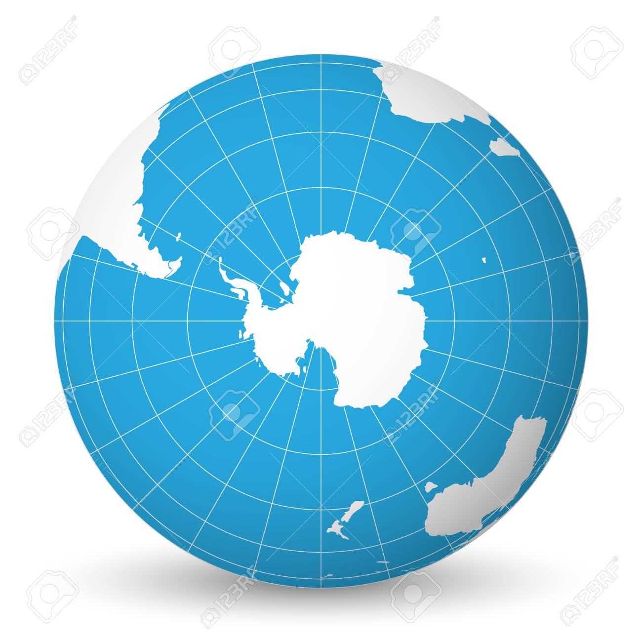 Earth globe with green world map and blue seas and oceans focused earth globe with green world map and blue seas and oceans focused on antarctica with south gumiabroncs Image collections
