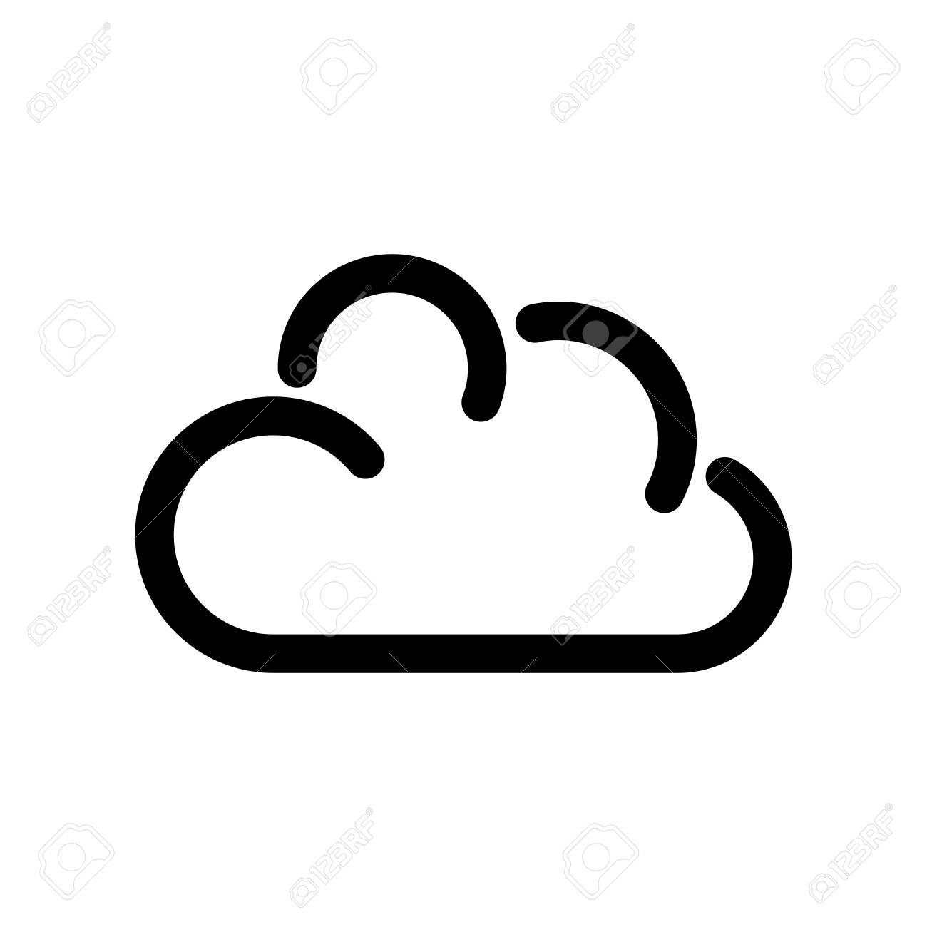 cloud icon. symbol of online storage. outline modern design element...  royalty free cliparts, vectors, and stock illustration. image 95341930.  123rf