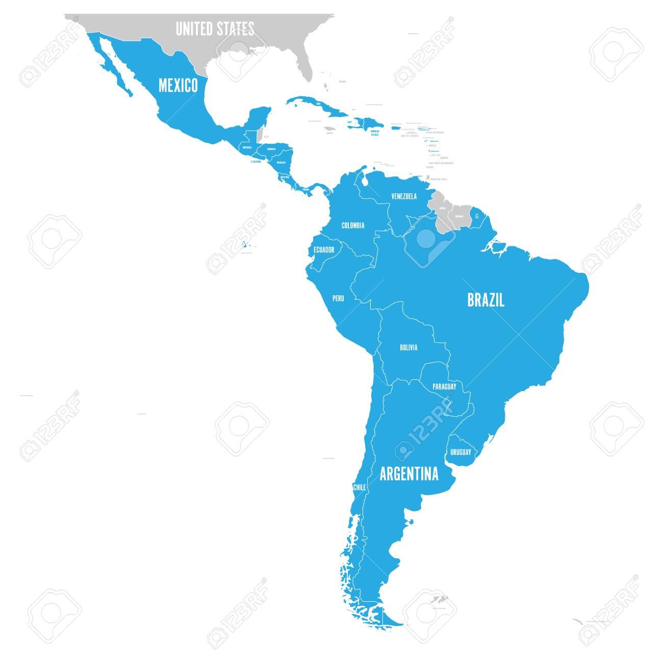 Political map of Latin America. L - 97610376