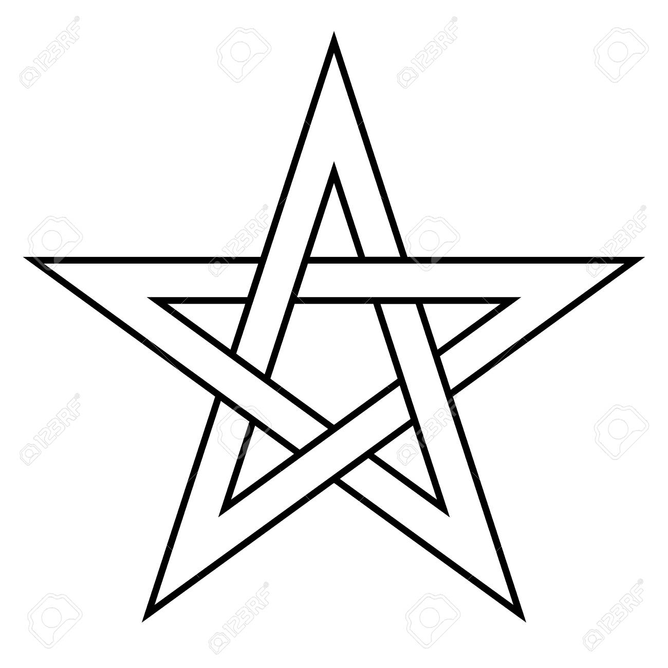 bd677c60b1b7e Pentagram sign - five-pointed star. Magical symbol of faith. Simple flat  white