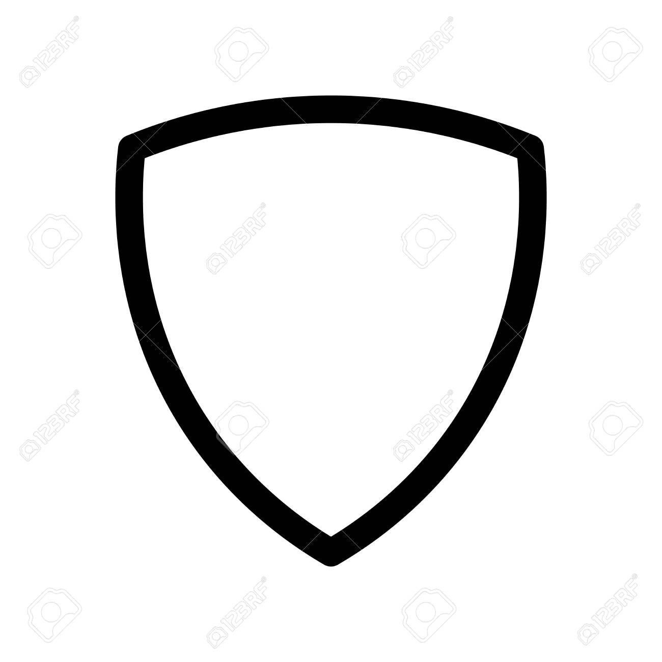 Shield Icon Symbol Of Security Safety And Protection Outline