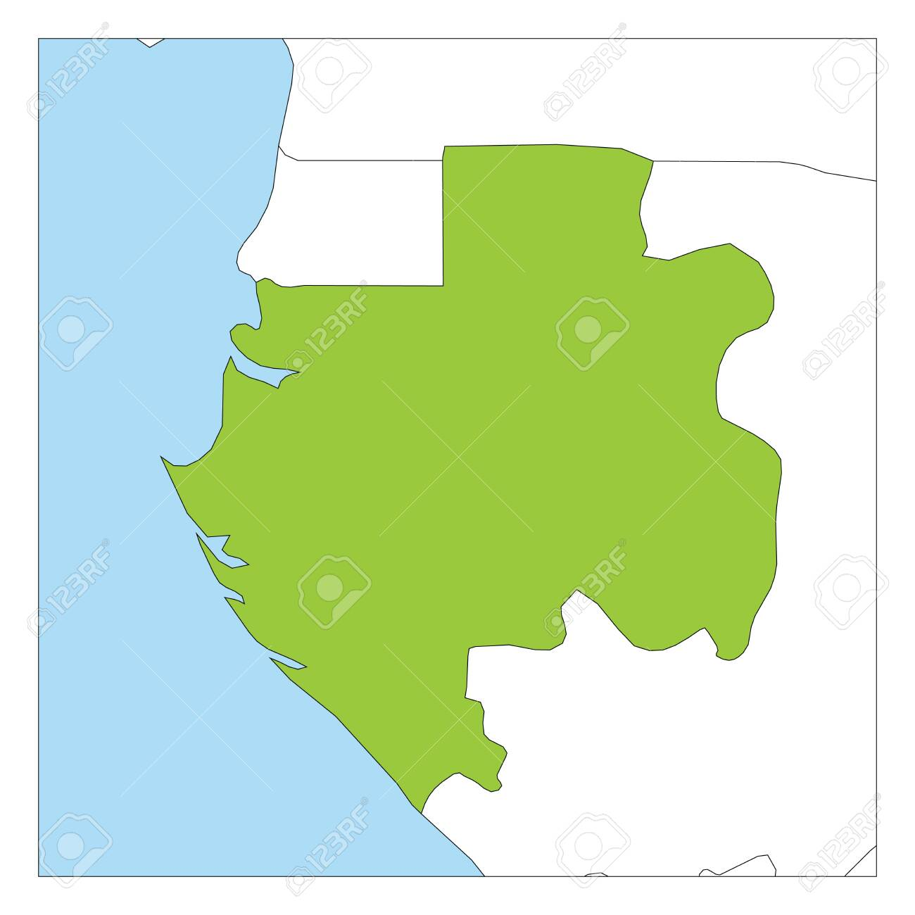 Map of Gabon green highlighted with neighbor countries. Map Gabon on namibia map, spain map, egypt map, haiti map, zaire map, mali map, swaziland map, cape verde map, tunisia map, congo map, botswana map, niger map, mozambique map, algeria map, angola map, french map, africa map, morocco map, bangladesh map, libreville map, sudan map, kenya map, ethiopia map, libya map, grenada map, uganda map, madagascar map, senegal map, the gambia map, liberia map, rwanda map, republique centrafricaine map, chad map, ghana map, malawi map, zambia map,