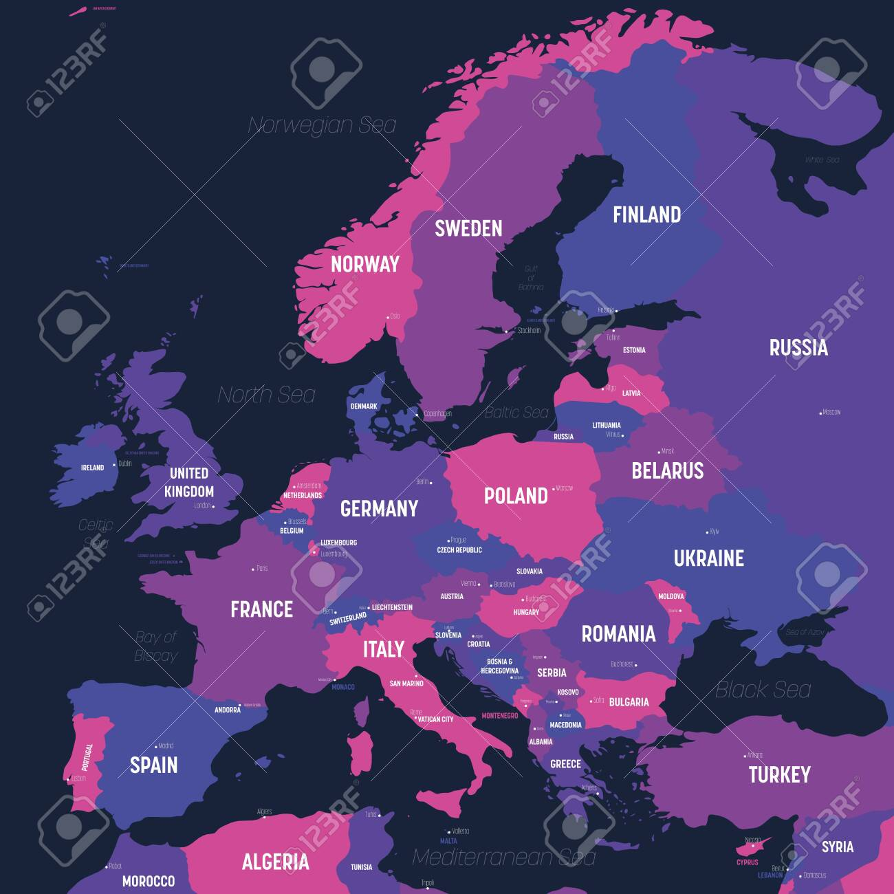 Picture of: Europe Map High Detailed Political Map Of European Continent Royalty Free Cliparts Vectors And Stock Illustration Image 140619421