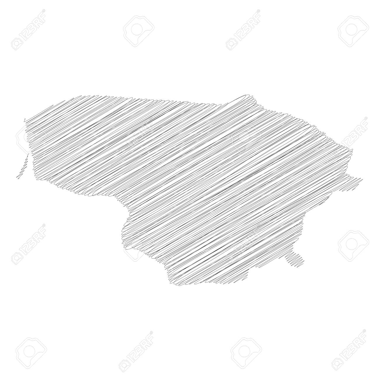 Lithuania Pencil Scribble Sketch Silhouette Map Of Country Royalty Free Cliparts Vectors And Stock Illustration Image 151493016
