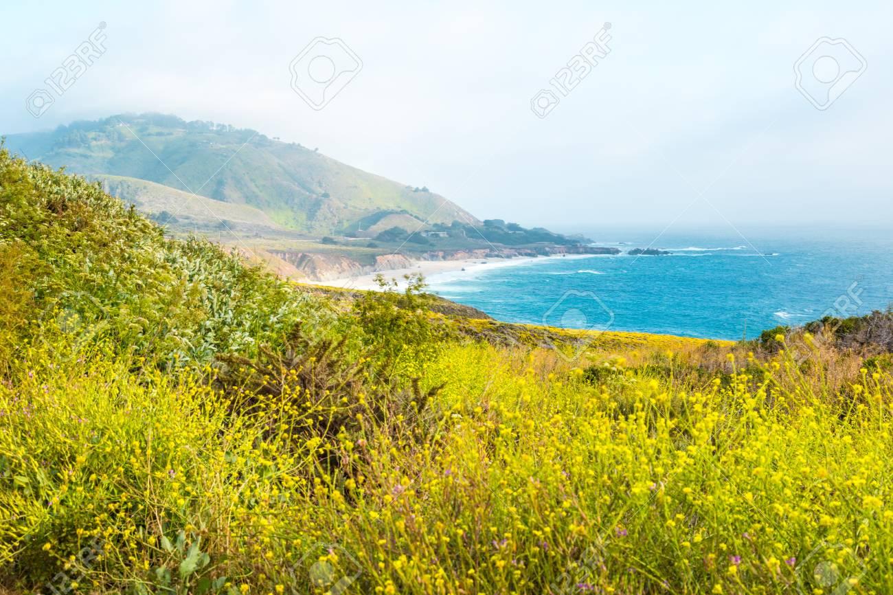 Beautiful Pacific Ocean coastline in Big Sur, California - 97073021