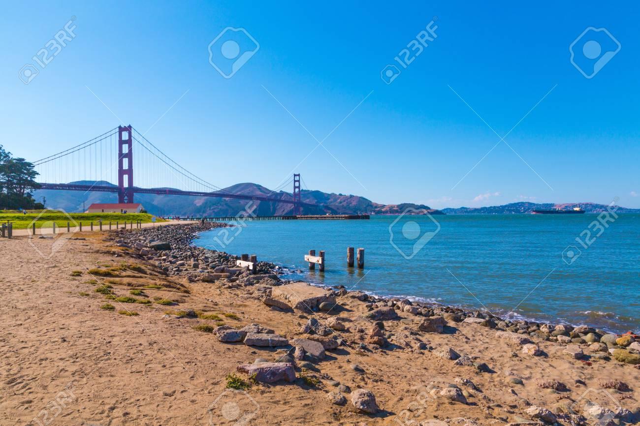 Famous Golden Gate Bridge in San Francisco, California - 97034365