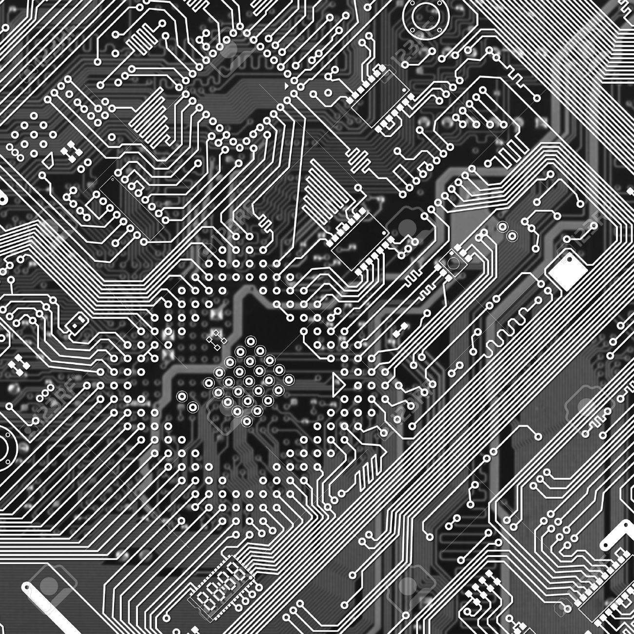 Printed monochrome industrial circuit board graphical texture Stock Photo - 6354083