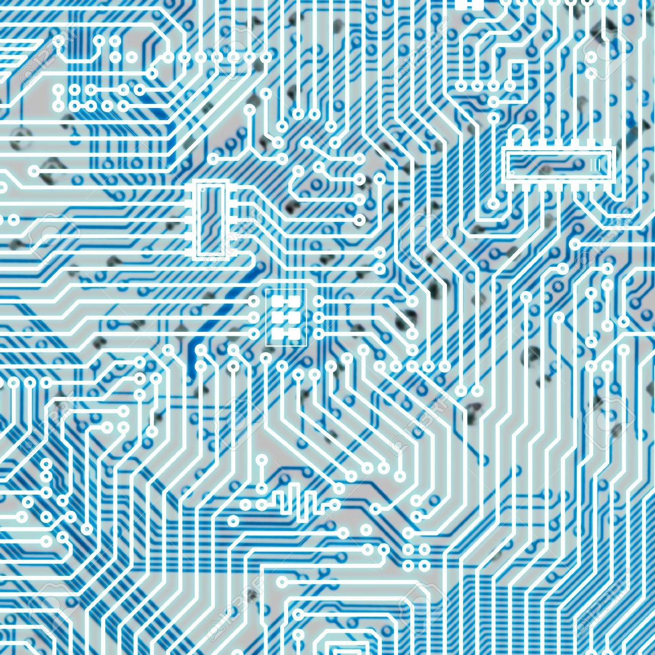 Circuit board light blue square hi-tech texture Stock Photo - 6536564