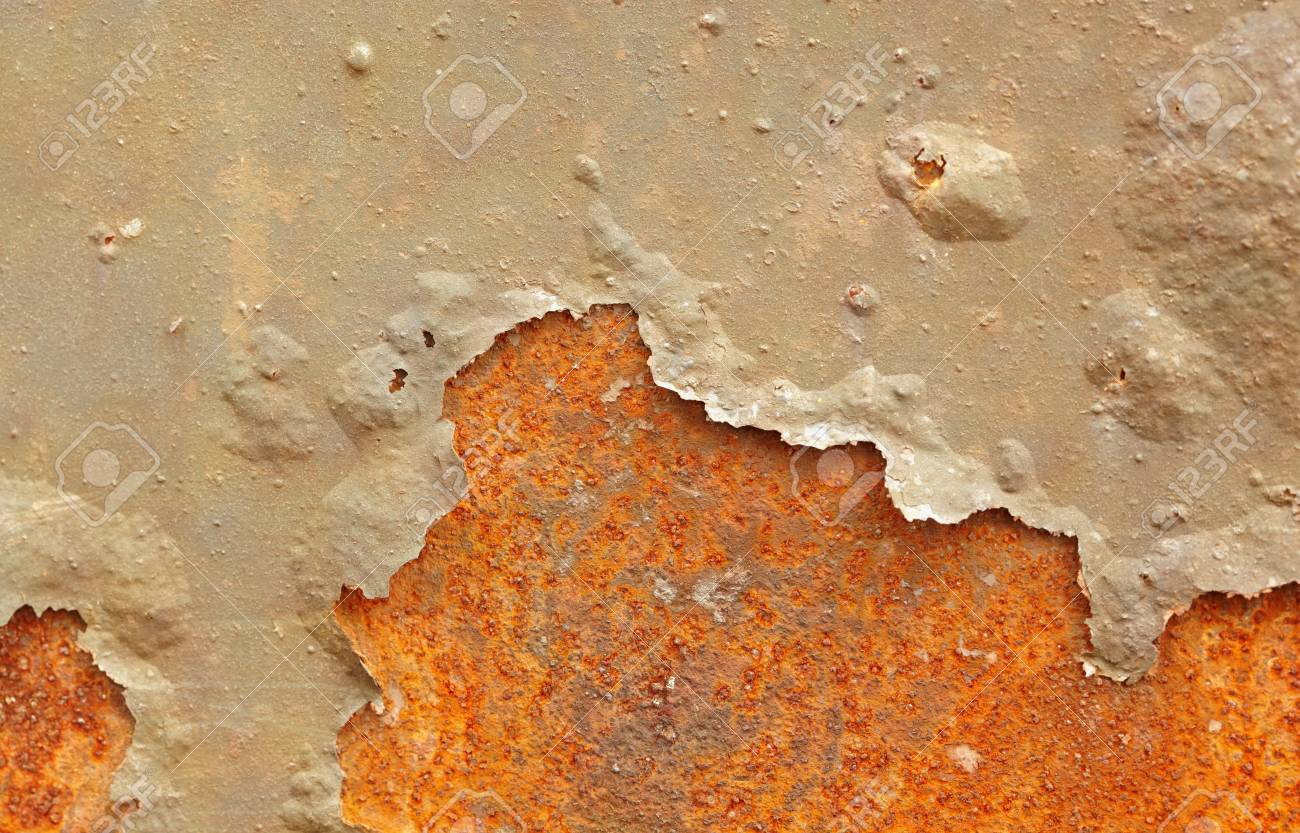 Surface of iron sheet with the damaged paint - backdrop Stock Photo - 8271793