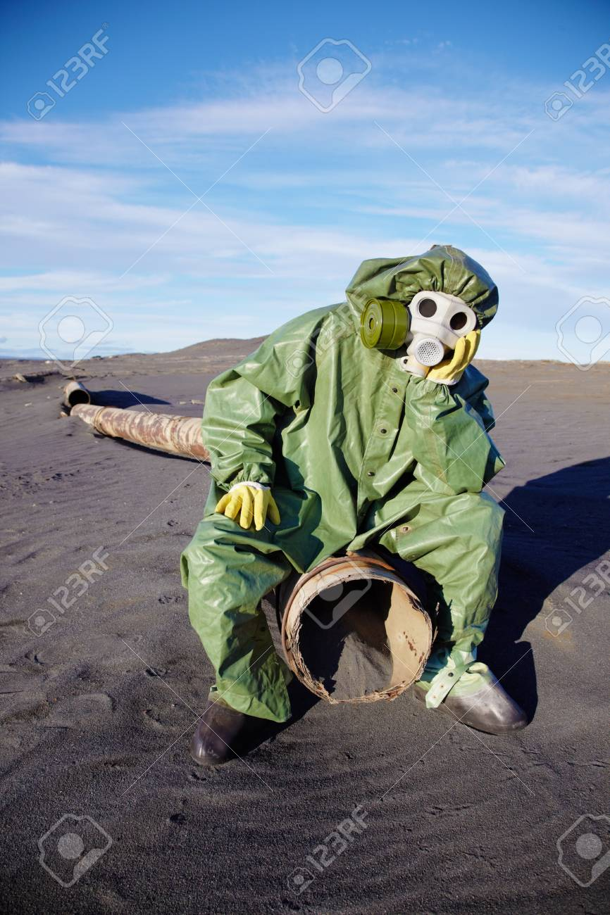 The afflicted scientific ecologist in urbanistic desert Stock Photo - 8337330
