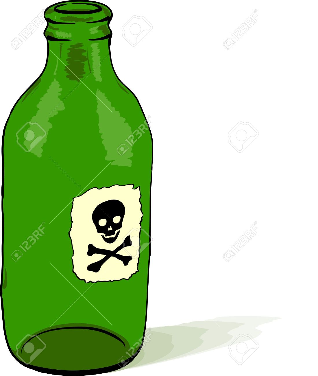 Glass bottle with a poison symbol Stock Vector - 8850436