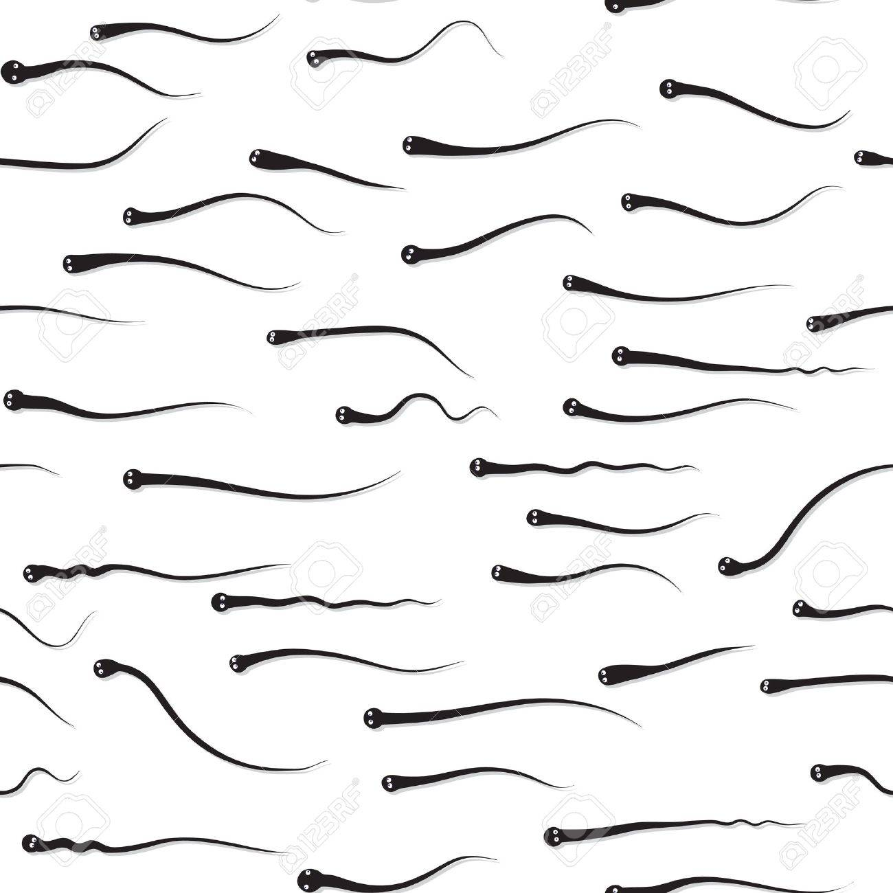 Funny texture - sperm competition vector eps8 Stock Vector - 9318243
