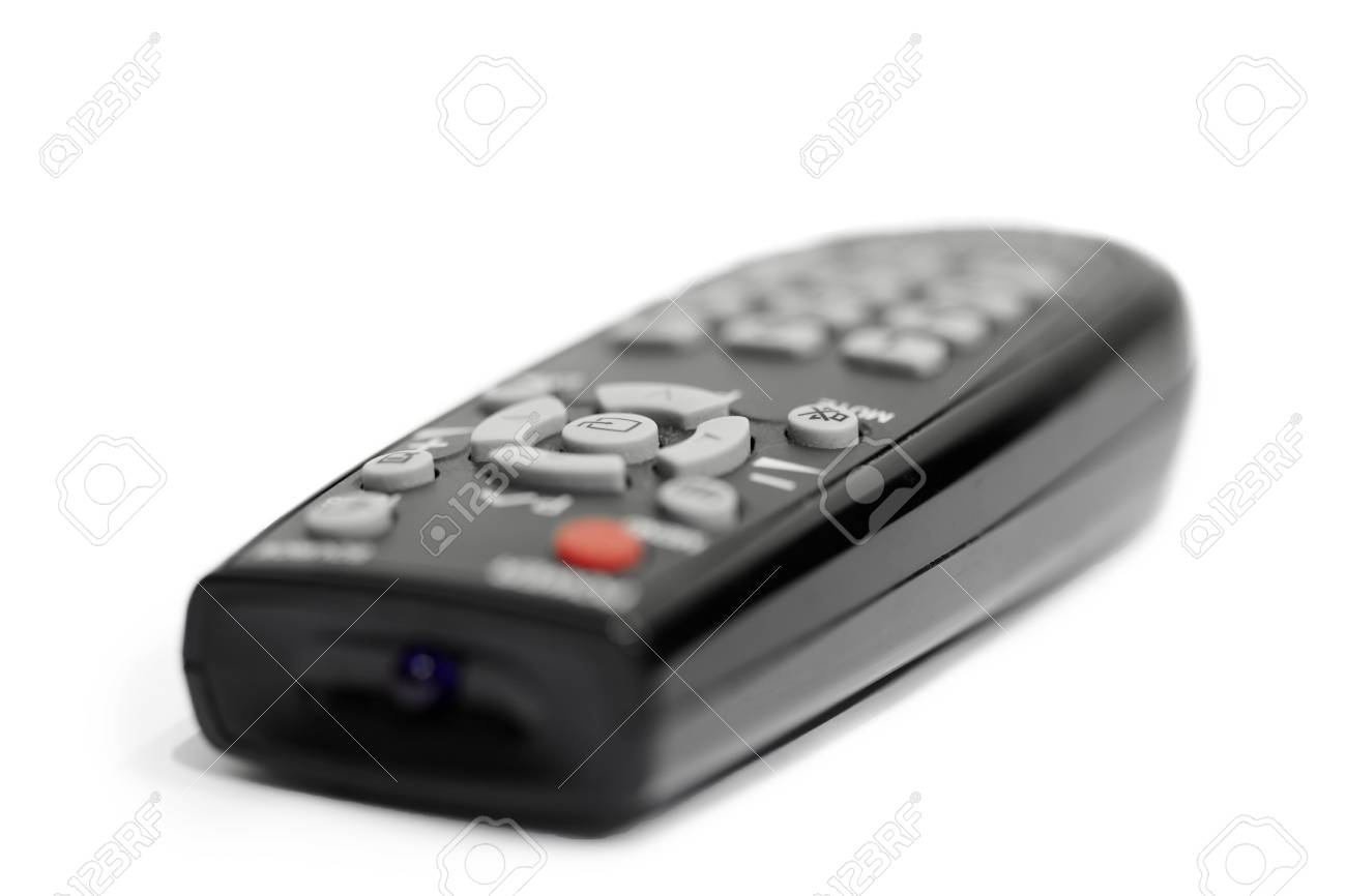 Black remote control isolated on white background Stock Photo - 10113357