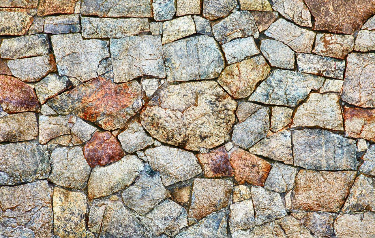 Texture - a wall made of natural rough stone Stock Photo - 11244439