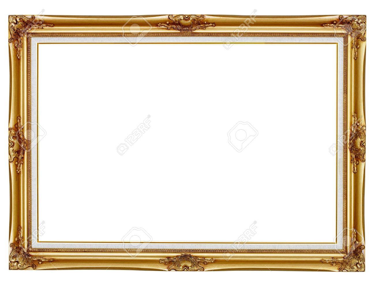 Alt Vergoldeten Rahmen Für Die Malerei Auf Weißem Hintergrund ...