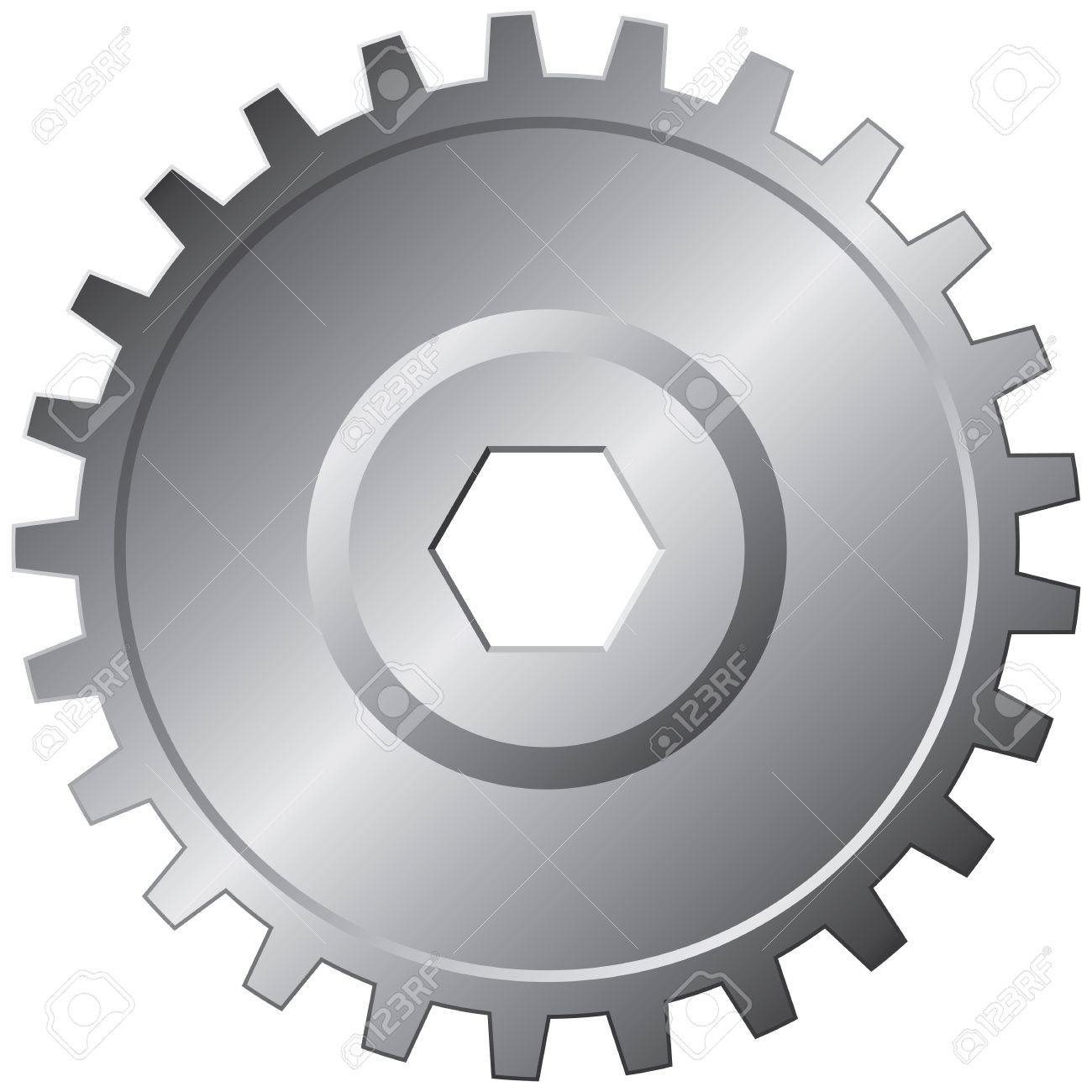 One big steel gear - vector illustration Stock Vector - 12492031