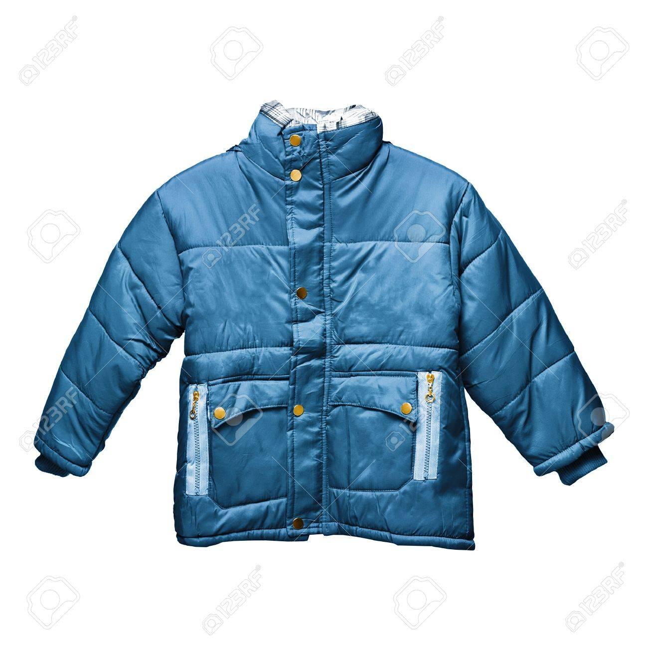 Children's parka jacket isolated on white background Stock Photo - 13939999