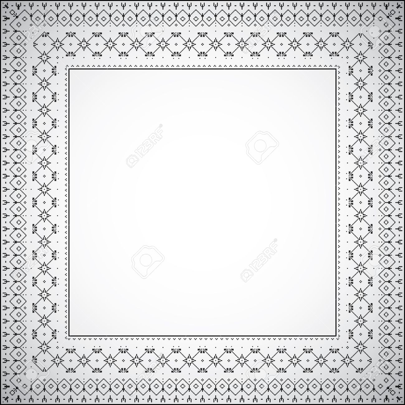 A simple square frame with ethnic pattern - Vector Stock Vector - 13980106