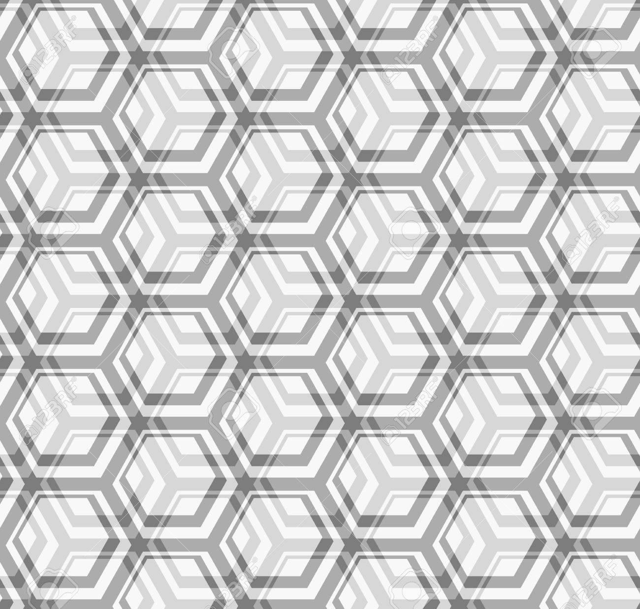 Seamless vector texture - the intersection of gray hexagons Stock Vector - 13980091