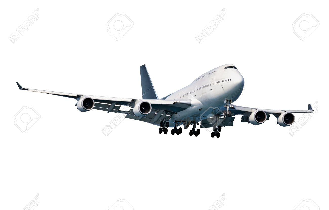 Modern passenger aircraft isolated on white background Stock Photo - 14101577