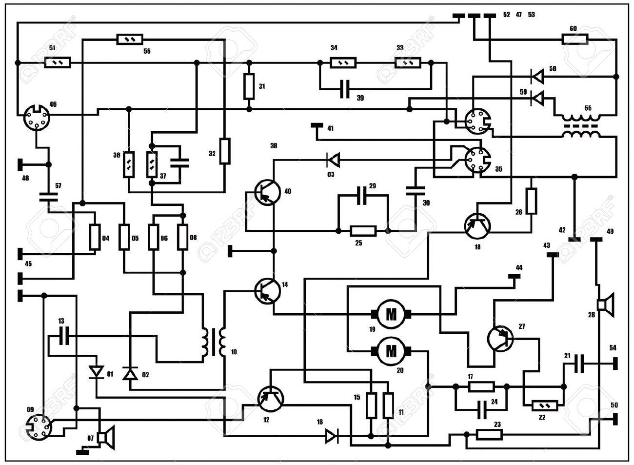 Electric Scheme - Fantasy Technology Background Royalty Free ...
