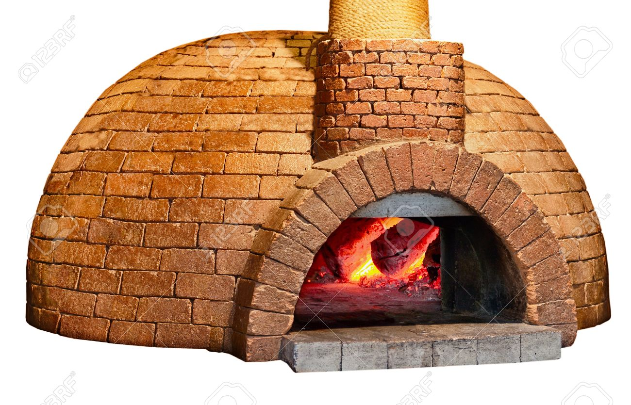 Old brick bread oven is isolated on a white background Stock Photo - 14341945