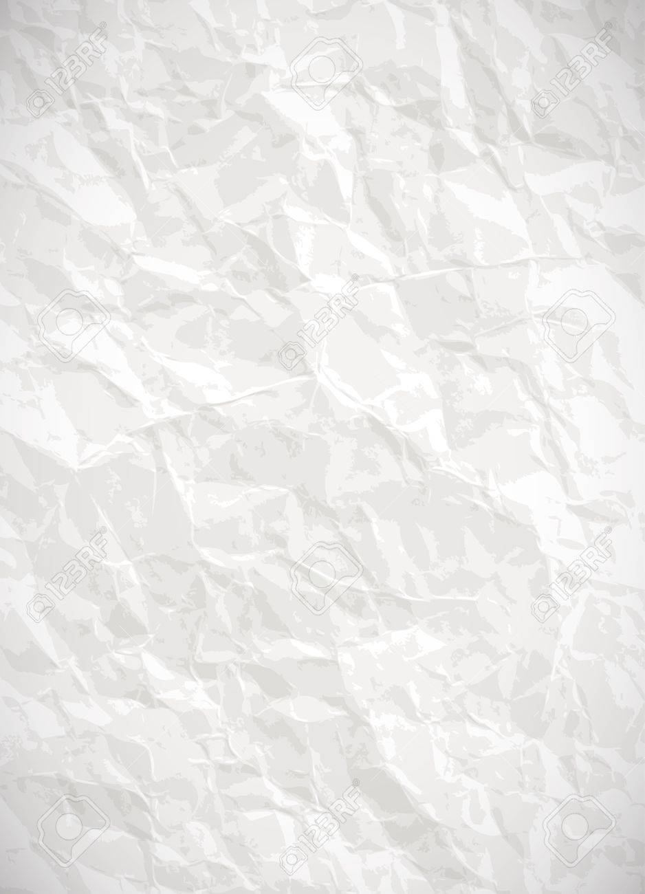 Paper Background - Vector White Crumpled Texture Royalty Free ...