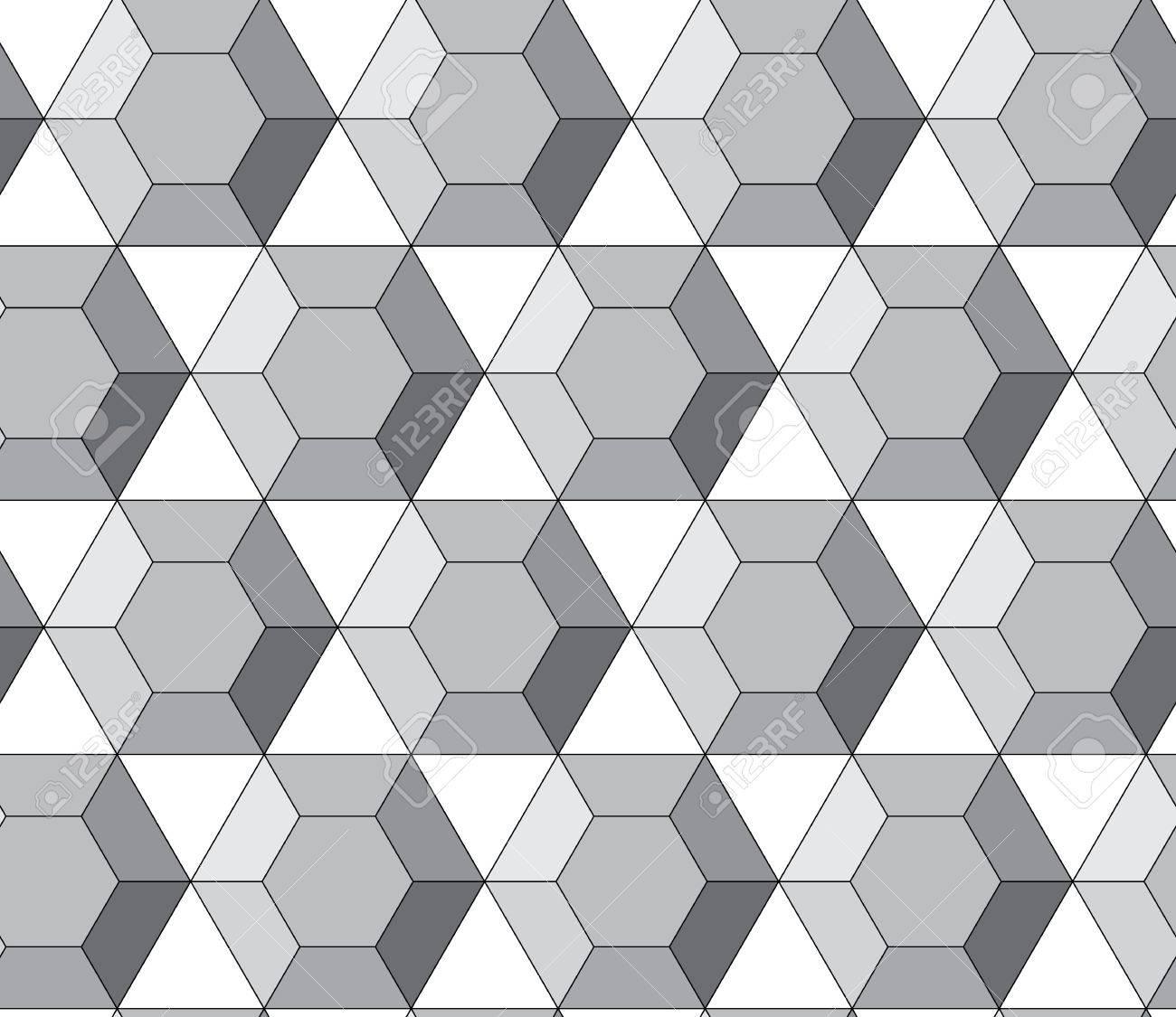 Simple geometric hexagons resemble the diamonds Stock Vector - 14766717