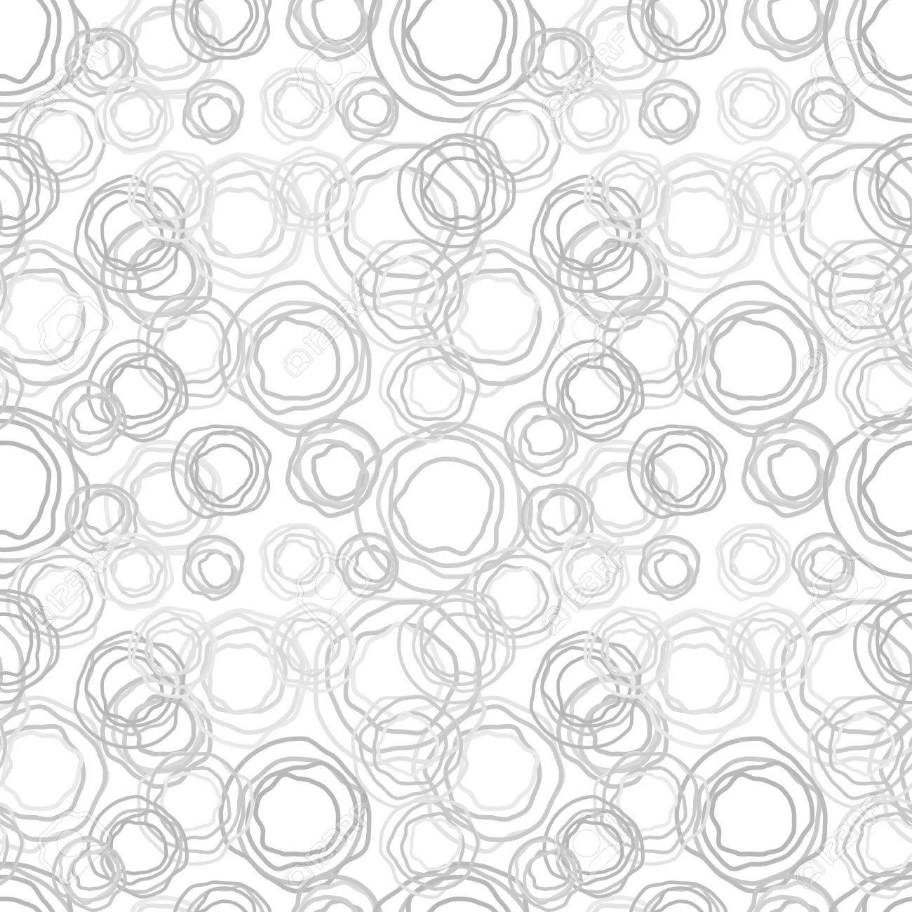 Seamless  abstract texture - gray jagged rings Stock Vector - 15487855
