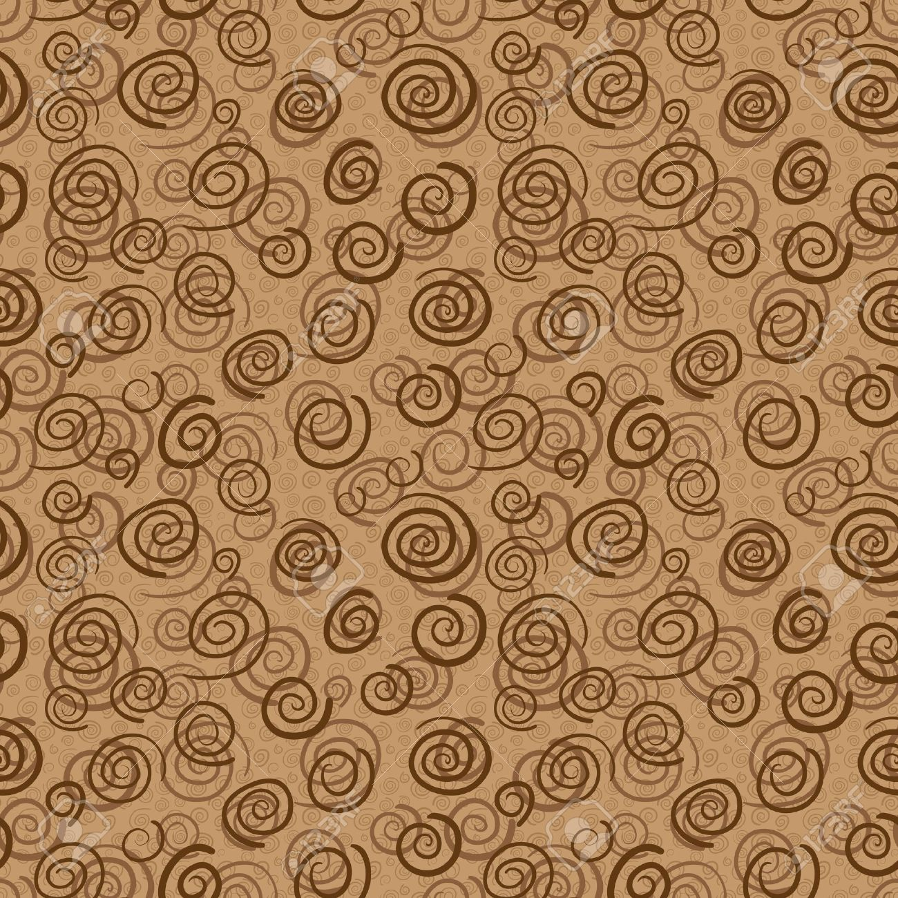 Vector abstract pattern in chocolate colors - seamless background Stock Vector - 17924389