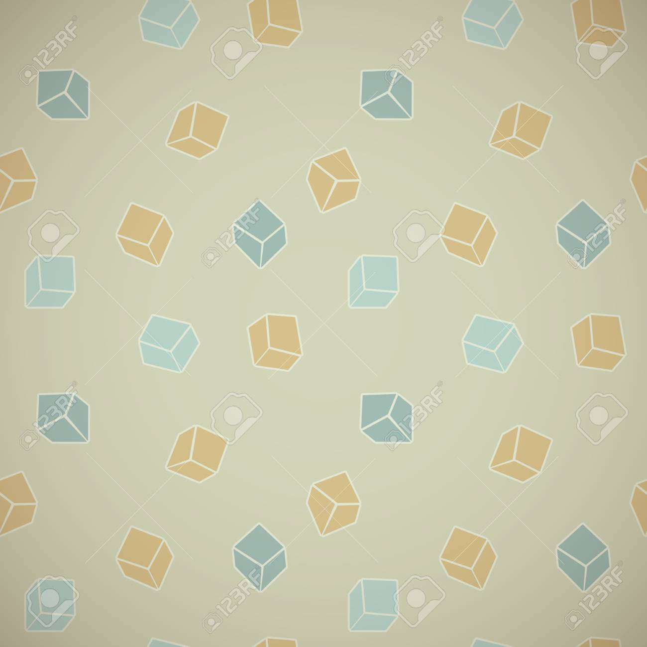 Vector abstract background of colored cubes in vintage style Stock Vector - 18138806